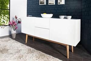 Sideboard Mit Füßen : design sideboard lisboa wei 150cm mit eiche f en riess ambiente onlineshop ~ Sanjose-hotels-ca.com Haus und Dekorationen