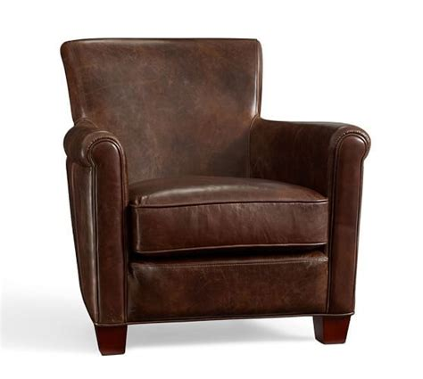 irving leather armchair pottery barn 999 liam s room