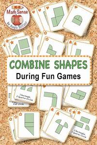 Composite 2d Shapes  40 Math Game Cards With Games Guide
