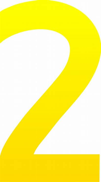 Clip Number Clipart Numbers Yellow Cliparts Clipartion