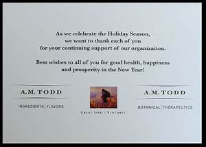 Business christmas card greetings or by business holiday for Company messages for business cards