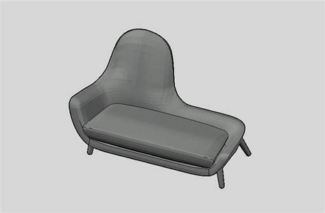 chaise dwg armchair mad chaise longue poliform day systems