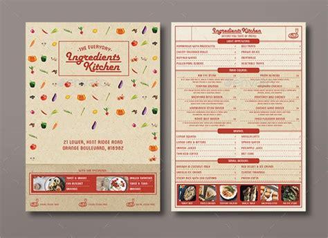 sample menu cards sample templates