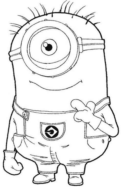eye minion despicable  coloring pages kleurplaten