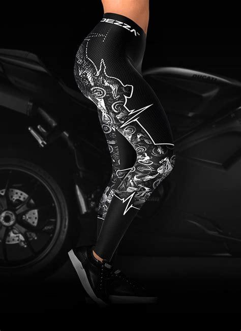 biker heartbeat motorcycle leggings ridezza