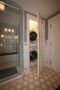 Washer dryer traditional bathroom cleveland by for Bathroom ideas with washer and dryer