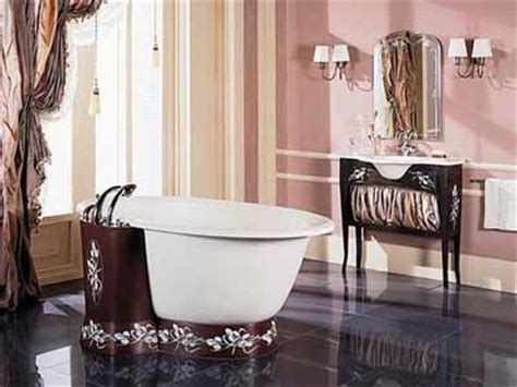 Brown And Pink Bathroom 2017  Grasscloth Wallpaper