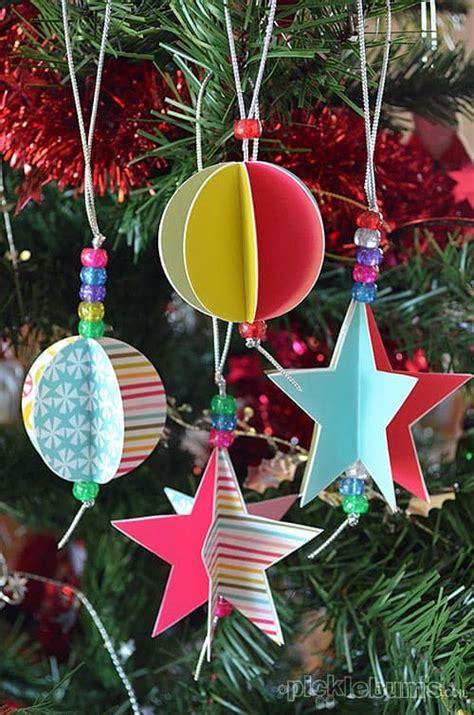 pretty paper ornaments    kids