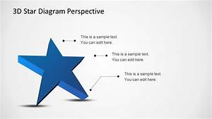 3d Star Diagram Template For Powerpoint