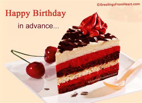 advance birthday