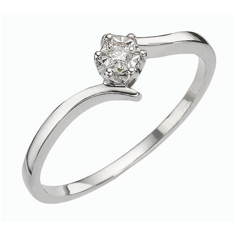 9ct White Gold Illusion Set Diamond Solitaire Ring  Hsamuel. Identical Wedding Rings. Engagment Wedding Rings. Engegement Engagement Rings. Kays Wedding Rings. Monika Rings. Bien Wedding Rings. Shield Wedding Rings. East West Engagement Rings