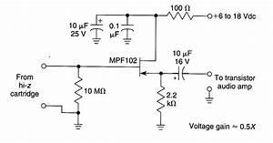 Fet Phono Cartridge Preamp - Amplifier Circuit