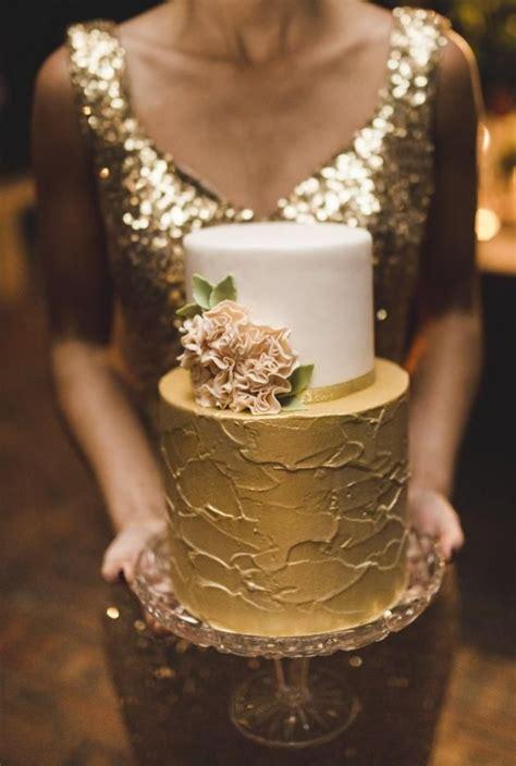 Beautiful Bride Or Bridesmaid In Sequined Gold Floor