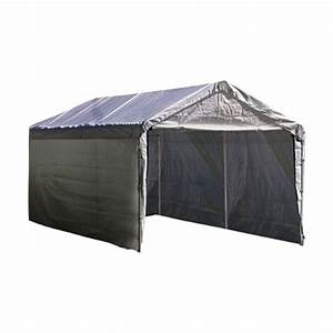 14x20 Replacement Carport 5 Piece Combo Kit Silver Canopy