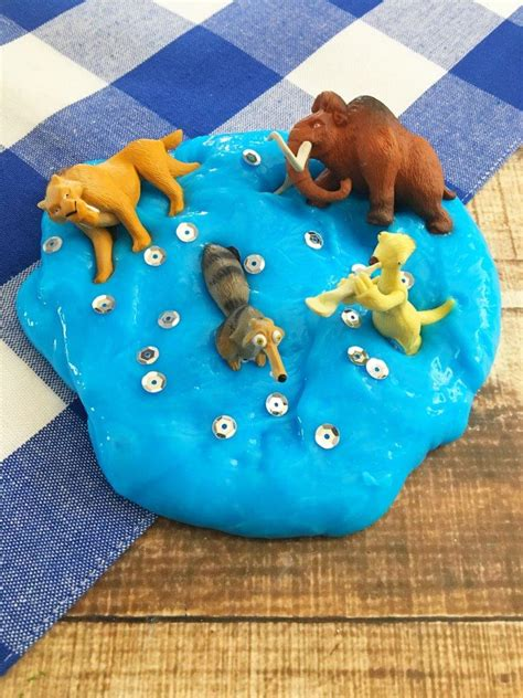 ice age collision  birthday party idea diy blue