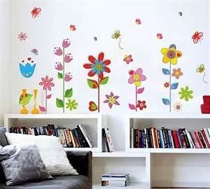 Wandtattoo Kinderzimmer Schmetterlinge : wandtattoo wandaufkleber blumen und schmetterlinge ~ Sanjose-hotels-ca.com Haus und Dekorationen