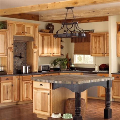 hickory kitchen island hickory kitchen cabinets these unfinished hickory