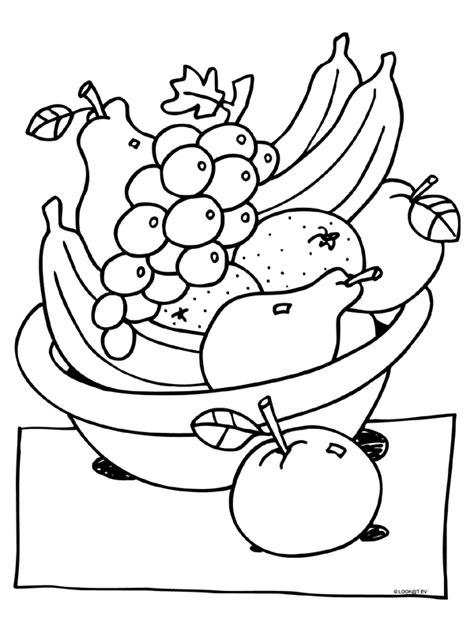 Kleurplaat Fruit Manderijn by Kleurplaat Fruitmand Knutselpagina Nl Knutselen