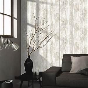 Papier Peint Tendance : papier peint papier monrovilla blanc leroy merlin ~ Premium-room.com Idées de Décoration