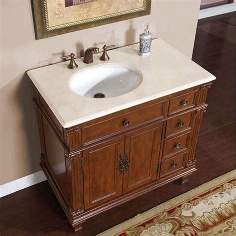 single sink bathroom vanity  cream marfil