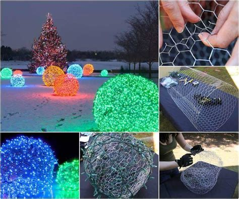 creative diy christmas outdoor lighting ideas