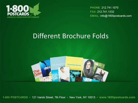 Different Brochure Fold Types