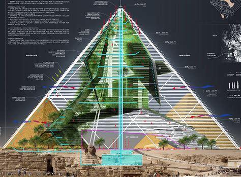 bio pyramid turns egypts ancient pyramids   gigantic desertification fighting skyscraper