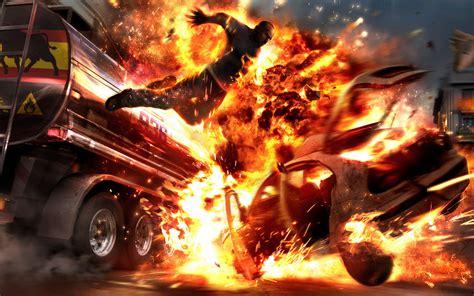 Car Explosion Wallpaper by Car Crash Explosion Wallpaper For Widescreen Desktop Pc