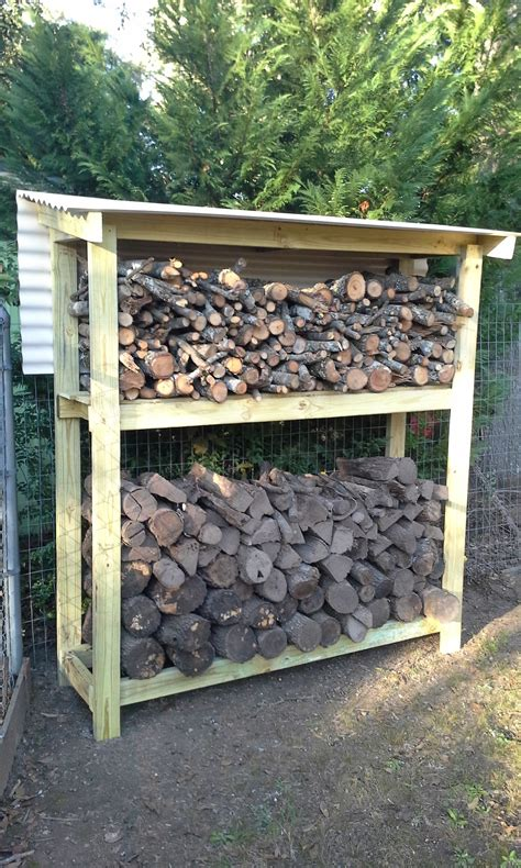 easy  build diy firewood shed plans  design ideas