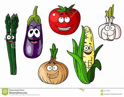 Cartoon Happy Garlic Clipart Onion Smiling Tomato