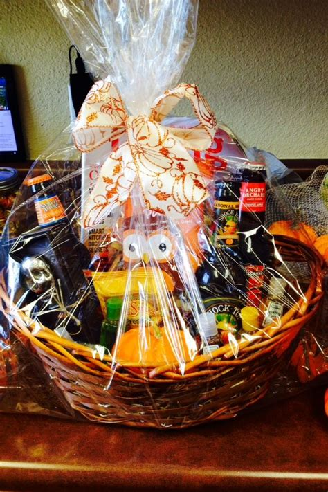 fall themed beer gift basket silent auction resident
