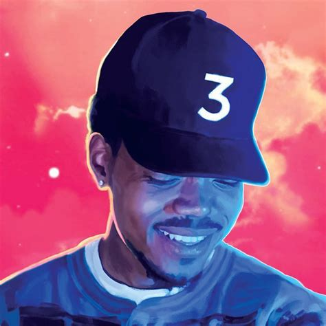 poster canvas painting chance  rapper    coloring book rapper singer home decoration