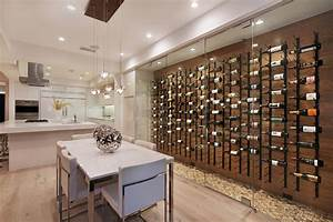 Contemporary Wall Wine With Wine Rack Pins Wine Cellar