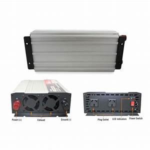 Pure Sine Wave Power Inverter 1500w  3000w 24v