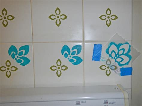kitchen tile stencils how to paint wall tile how tos diy 3289