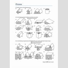 Volumes Of Prisms Worksheet By Tristanjones  Teaching Resources Tes
