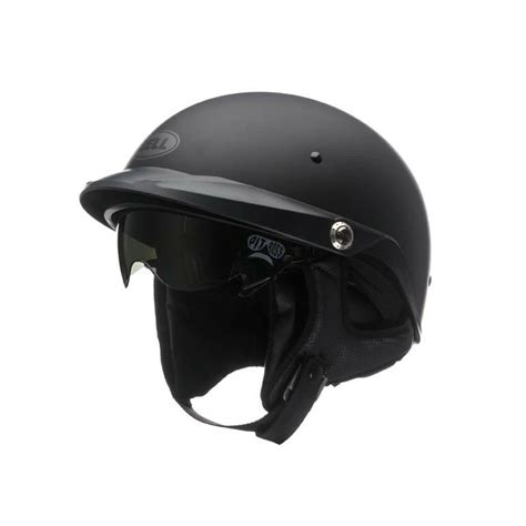 New Bell Pit Boss Matte Black Half Motorcycle Helmet