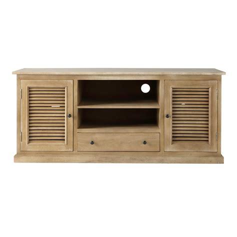 meuble tv 140 cm meuble tv en manguier l 140 cm persiennes maisons du monde