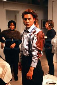 """Jared Leto on the set of """"American Psycho"""". 