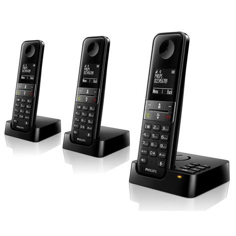 telephone interieur sans fil philips d4553b noir d4553b fr achat vente t 233 l 233 phone sans fil sur ldlc