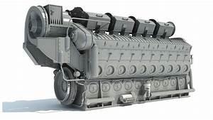 Emd Locomotive Train Diesel Engine 3d Model