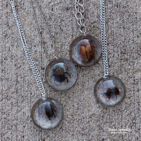 doodlecraft beetles  resin jewelry