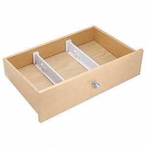 mDesign set da 2 divisori per cassetti regolabile perfetti organizer cassetti ideali come