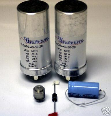 Deluxe Power Supply Capacitor Refurb Kit Mcintosh