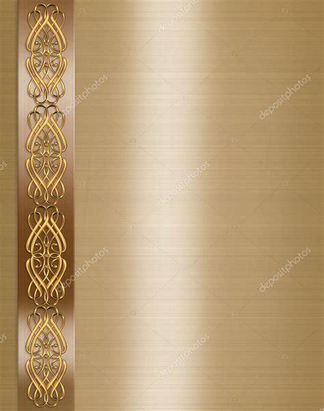 wedding invitation elegant gold border stock photo