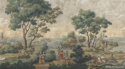 Countryside English Mural Paulmontgomery Scenic Nature Colonial