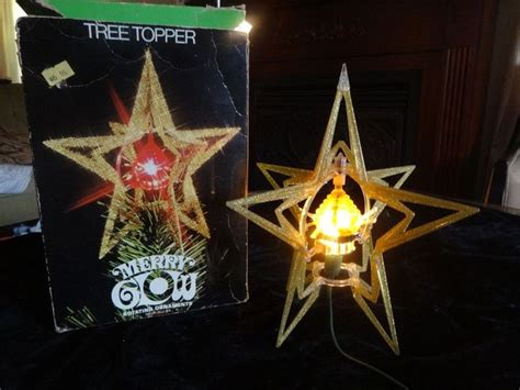 merry glow rotating christmas tree topper 1000 images about vintage joys on trees reindeer and spun cotton