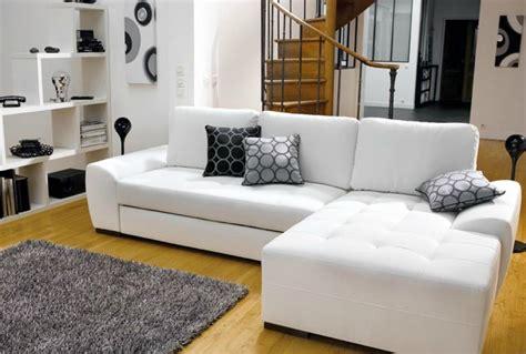 canape cuir blanc photos canapé d 39 angle convertible cuir blanc