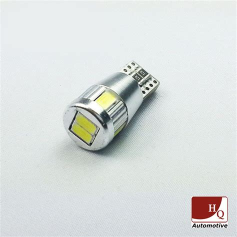 w5w 6 leds smd 5630 car led bulb car light bulb canbus