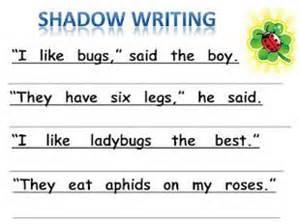 springtime shadow writing